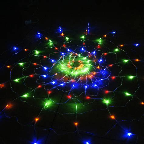 colorful rgb spider led net light   led christmas lights party wedding led