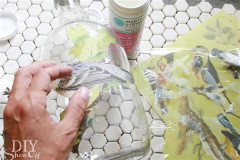 decoupage paper tutorial easy fall decor decoupaged glass jars and bottlestutorial