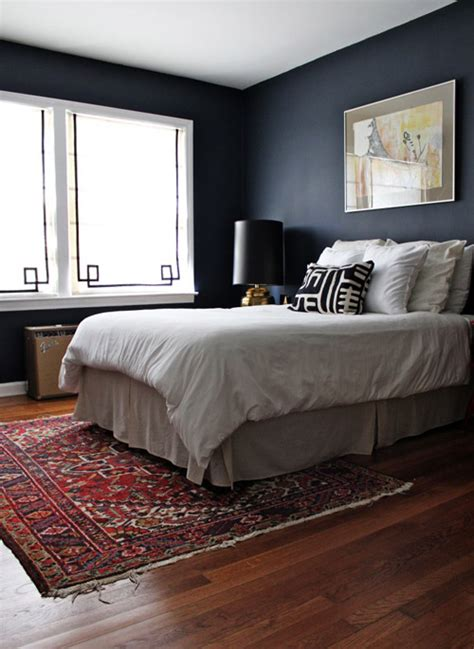 dark blue bedroom walls before after dark and moody bedroom makeover design