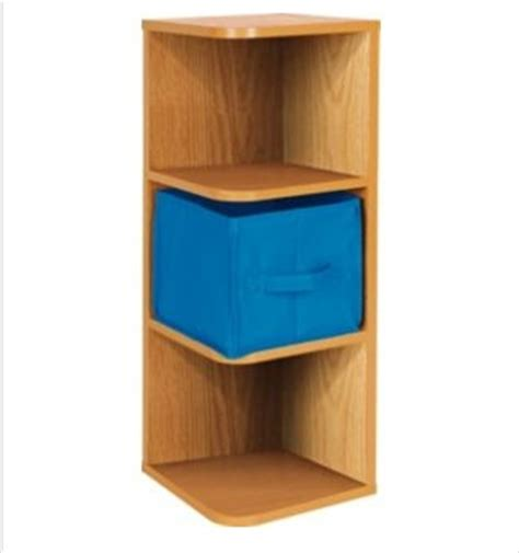 unique style light beech effect corner shelves wall shelf