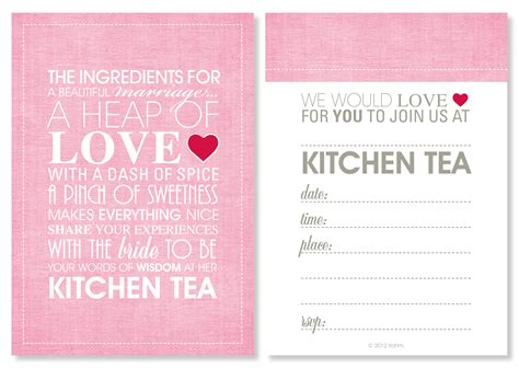kitchen tea party invitation ideas kitchen tea invitations