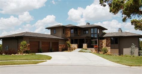prarie style modern prairie style house front elevation