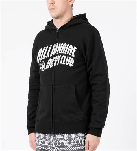 Hoodie Sweater Arch Linux Black Front Logo billionaire boys club black arch logo zip