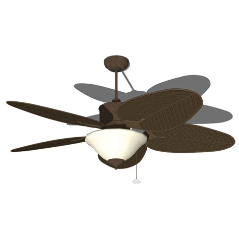 Wicker Ceiling Fans by Wicker Ceiling Fan 3d Model Formfonts 3d Models Textures