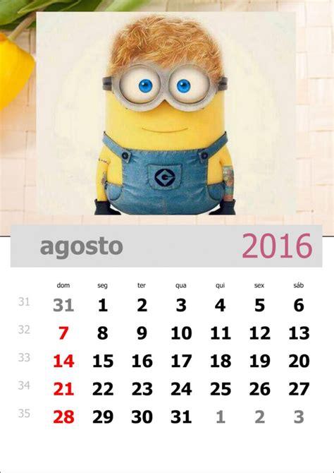 Calendario M X Calend 225 Dos Minions 2016 Para Imprimir