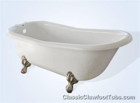 claw footed bathtub 60 quot acrylic slipper clawfoot tub classic clawfoot tub