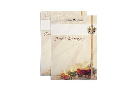 weihnachts dekor magazine briefpapier kopfbogen werbung grafik design g 246 rlitz