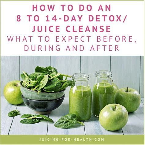 14 Day Juice Detox Diet Plan by 8 To 14 Day Detox Juice Cleanse What To Expect Before