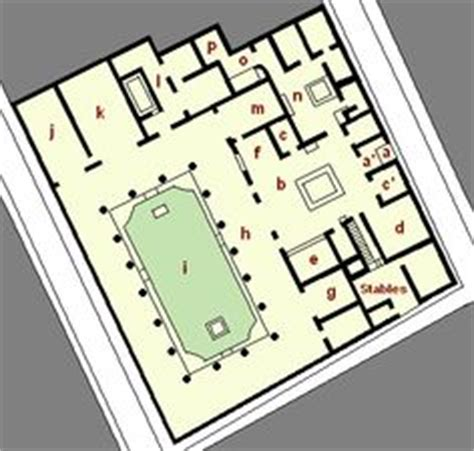 house of the vettii floor plan pomp 233 i architecture and b 226 timent on pinterest