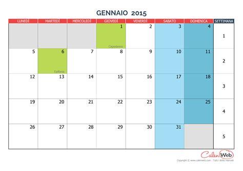Calendario 2019 Con Festività Italiane Calendario Mensile Mese Di Gennaio 2015 Con Le Festivit 224
