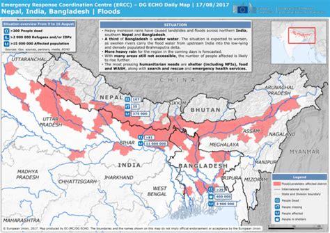 india bangladesh nepal india bangladesh floods dg echo daily map 17