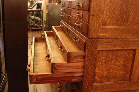 map storage cabinet 20 drawer tiger oak map cabinet or flat file with original brass hardware at 1stdibs