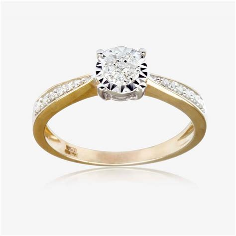 Ring Diamant by 9ct Gold Ring