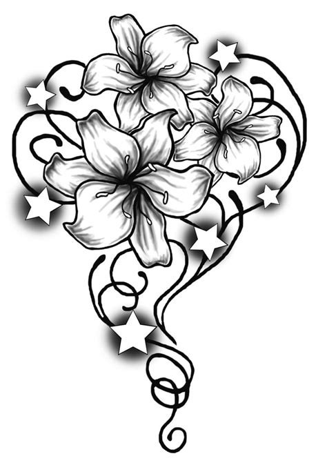 flower tribal drawing archives pencil drawing collection