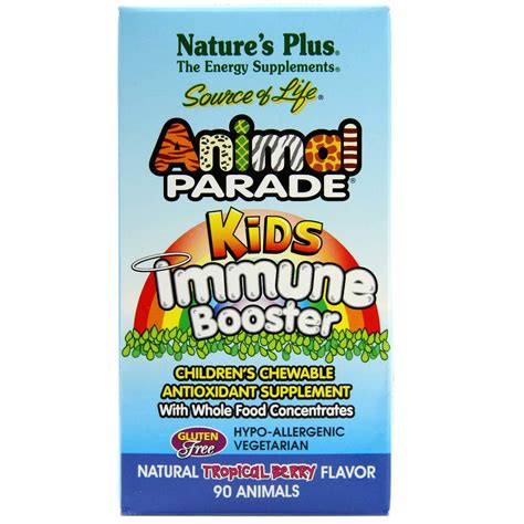 natures  animal parade kids immune booster berry