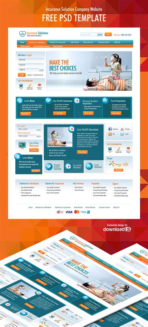10 Free Psd Website Templates August 2015 Designazure Com It Company Website Template