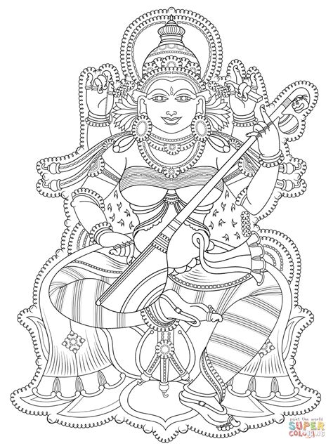 printable art murals kerala mural coloring page free printable coloring pages