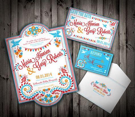 mexico wedding invitations mexican wedding invitation set colorful embroidery festive downloadable custom pdf