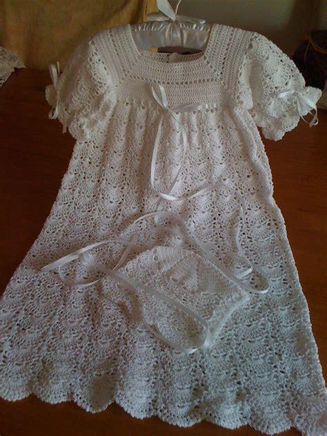Handmade Christening Gowns - handmade crochet christening gown in 10 cotton thread