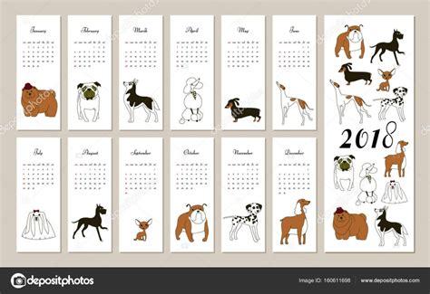 fashion illustration calendar 2018 2018 calendar breed graphic stock vector 169 smska 160611698