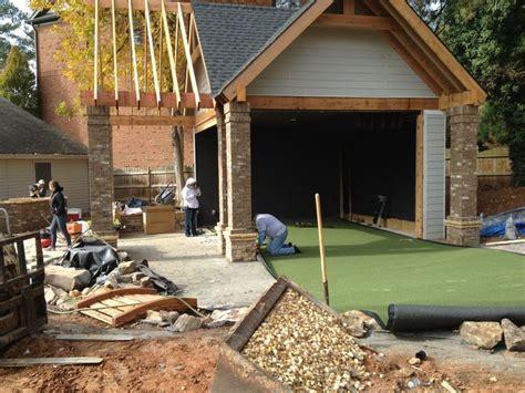 Amazing Backyard Very Neat Hgtv Outdoor Golf Simulator Project Outdoor