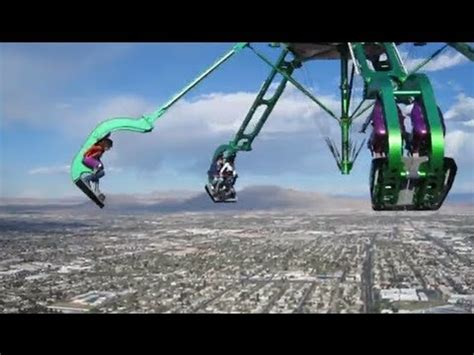 stratosphere swing ride scariest ride ever human slingshot orlando fl how to