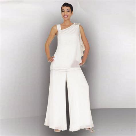 White Wedding Pant Suits for Bride Promotion Shop for