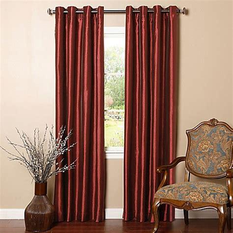 burgundy striped dupioni faux silk grommet top blackout buy decorinnovation solid faux silk 84 inch blackout