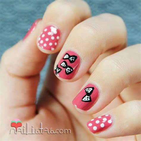 imagenes uñas cortas decoradas u 241 as decoradas con lacitos nail art nailistas u 241 as