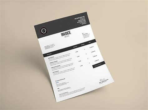 creative invoice template 50 creative invoice designs for your inspiration hongkiat
