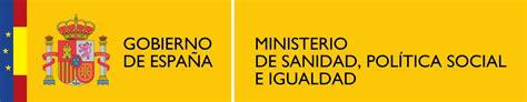 ministerio de sanidad servicios sociales e igualdad file logotipo del ministerio de sanidad pol 237 tica social e