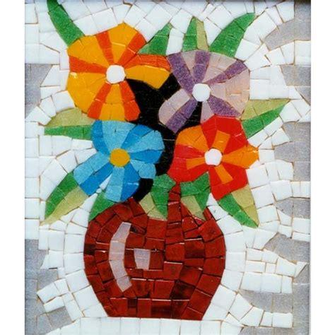 mosaico fiori kit piccolo mosaico vaso di fiori