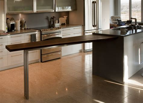 Contemporary Kitchen Bar Table Black Walnut Kitchen Bar By Cherrywood Studio