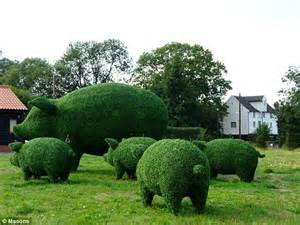 green animals topiary garden cost prince charles launches sustainable living garden at