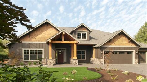 craftsman style home plans modern one story ranch house one story craftsman house