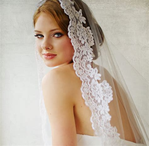 Bridal Veil by Bridal Veil Traditional Veil Mantilla Cathedral Length