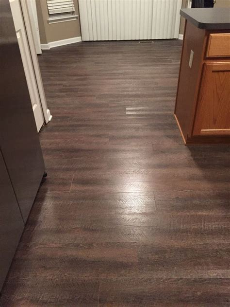 Vinyl Plank Flooring Basement Trafficmaster Sawcut Dakota Vinyl Planks Flooring Basement Plans