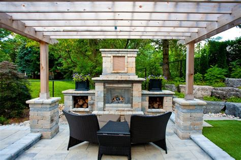 outdoor fireplace plans porch traditional with vaulted