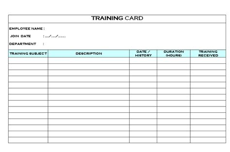 free workshop card template excel card format sles word document