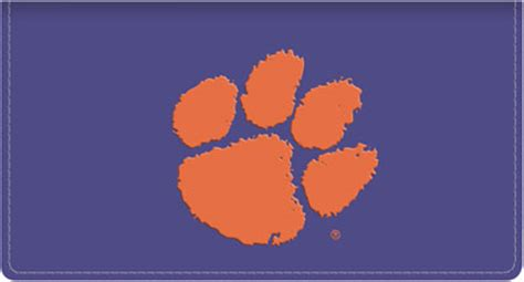 clemson school colors sports checks clemson tigers personal checks with logo