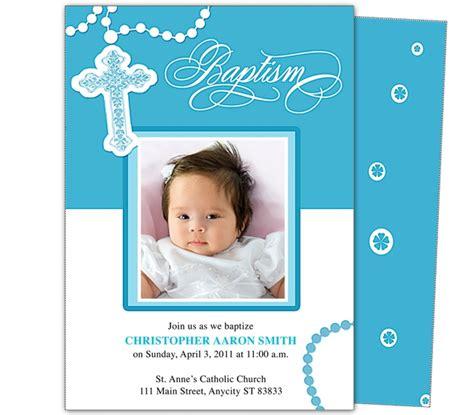 Baptism Invitation Blank Templates For Boy   cloveranddot.Com
