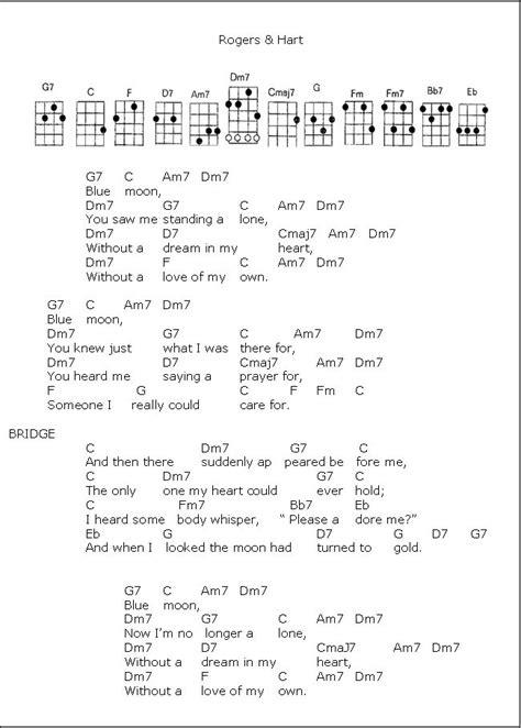 blue song ukulele chords blue moon ukulele pr 248 vet rimelig gode akkorder m 229 ske med