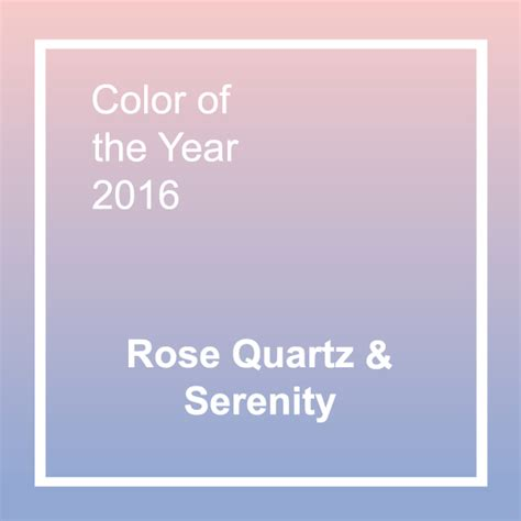 color of year pantone s 2016 colors of the year rose quartz and serenity