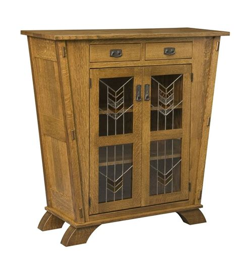 Mission Cabinets by Amish Liberty Mission Cabinet With Glass Panels