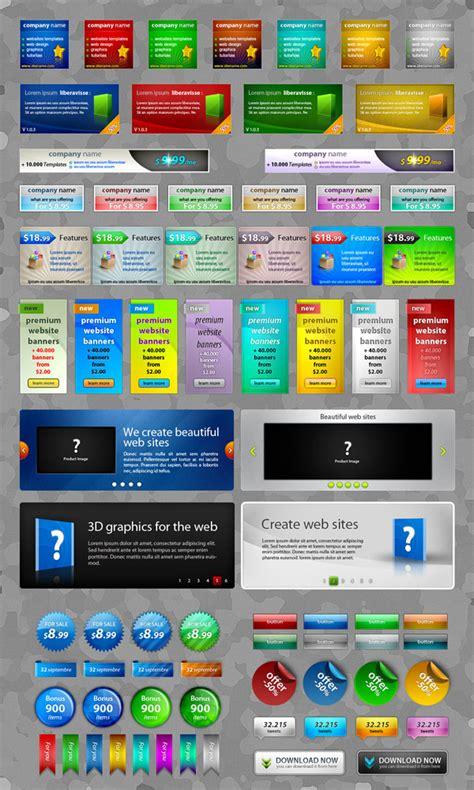 material design header psd 4 designer exquisite web2 0 web design elements psd