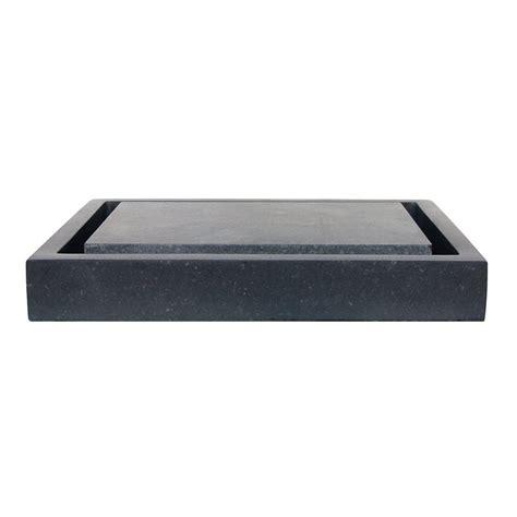 black bathroom sinks shop eden bath stone black basalt vessel rectangular bathroom sink at lowes com