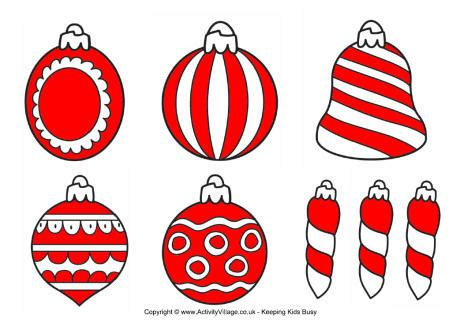printable christmas cutouts and decorations decorations printables