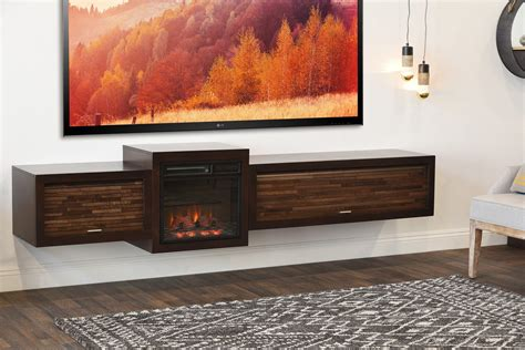 wall mount tv stand floating fireplace wall mount tv stand eco geo espresso woodwaves