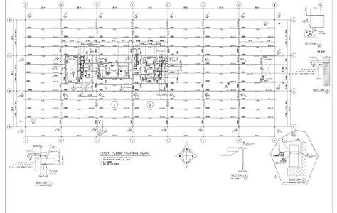 a frame floor plan drawings first floor framing plan jpg