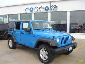 cosmos blue 2011 jeep wrangler unlimited sport 4x4